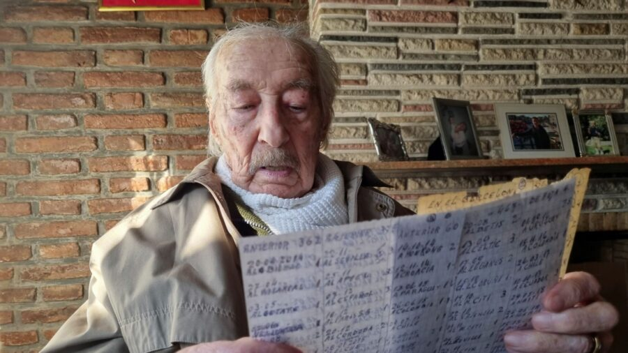 100-Year-Old Argentine Grandfather Keeps Handwritten Notes of Every Messi Goal