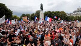 Thousands of Demonstrators Protest Health Pass in Paris