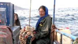 75-Year-Old Tunisian Fisherwomen Works at Sea