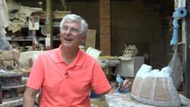 Texas Sculptor Makes 'Mount Trumpmore'