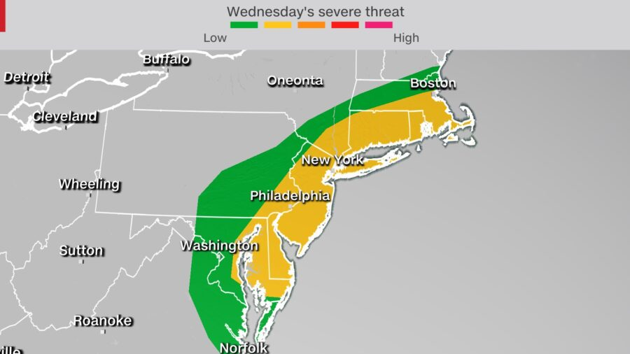 Severe Storms Threaten the Northeast but Will Also Help Clear Wildfire Smoke From the Skies
