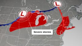 Damaging Winds Threaten More Than 90 Million People in the Midwest and Northeast