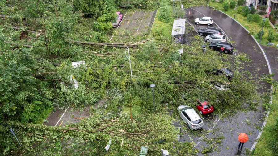 Storms Cause Widespread Damage in Switzerland, Germany