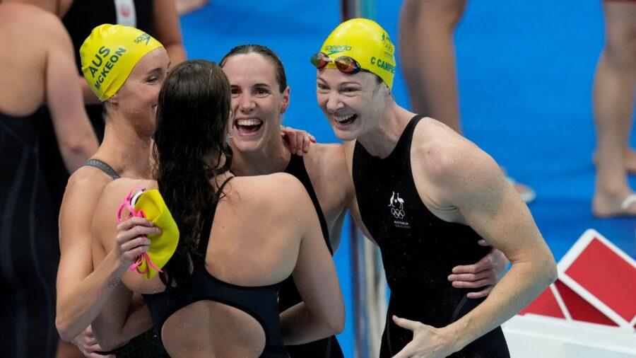 Untouchable: Aussie Women Continue 4X100 Freestyle Dominance