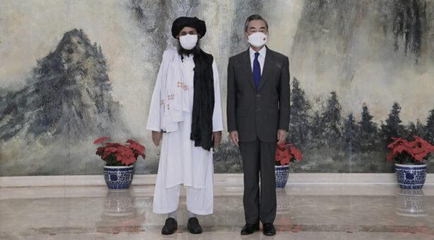 Wang Yi and Taliban rep