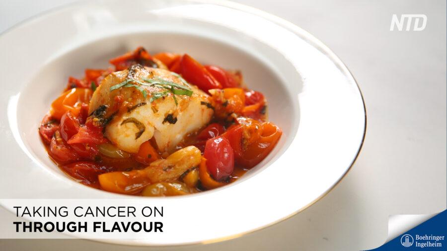 Pan-Seared Cod in Tomato Basil Sauce