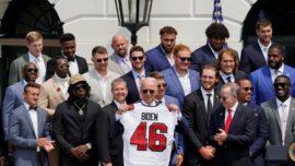 Tom Brady, Champion Buccaneers Visit Biden at White House