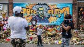 George Floyd Mural Destroyed by Lightning Strike, Witnesses Say; Cause Disputed