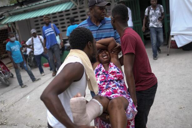 An injured woman