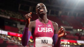 Olympian Returns to New Jersey With 2 Gold Medals