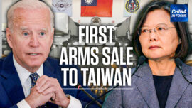 Biden Approves First Arms Sale to Taiwan