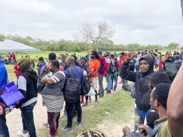 A group of more than 350 illegal immigrants