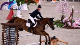 Sumo Wrestler Removed From Equestrian Course for Team Event