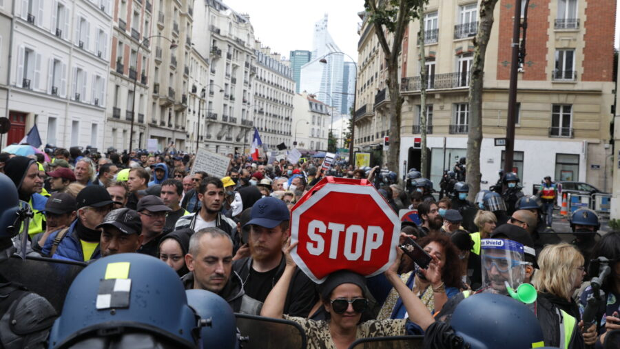 'No Vaccine Passports': Massive Protests Across France Over COVID Rules Starting Monday