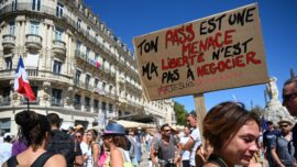 Thousands March Against French Health Pass
