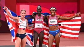 Teenager Mu Ends Long American Wait for 800 Meters Gold