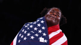 Mensah-Stock Caps Debut With Women's Freestyle Gold