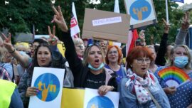 Poles Protest Against New Media Bill