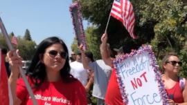 California Locals Protest Vaccine Mandates