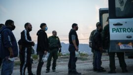 Border Footage Shows 'Up to 1,000' Immigrants