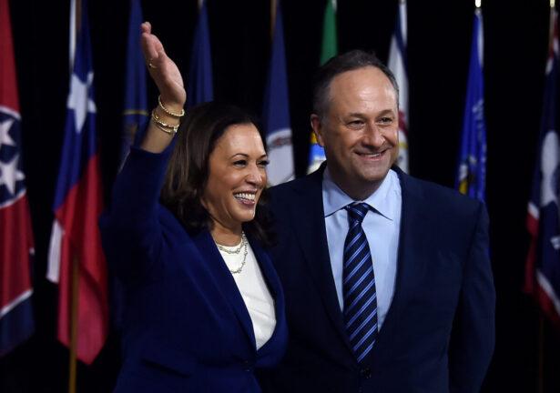 Democratic vice presidential running mate, U.S. Senator Kamala Harris