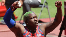 Olympic Committee Drops Probe Into Raven Saunders' Gesture After Her Mother's Death