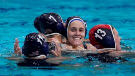 US Overwhelms Spain for 3rd Straight Water Polo Gold