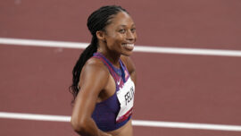 American Felix Sets New Women's Olympics Medal Record