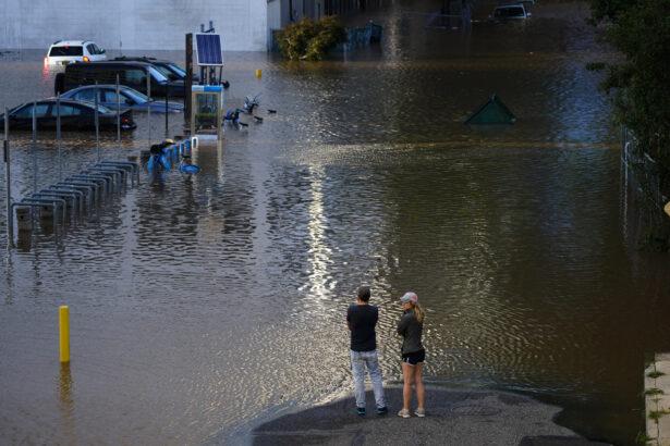 a flooded street in Philadelphia
