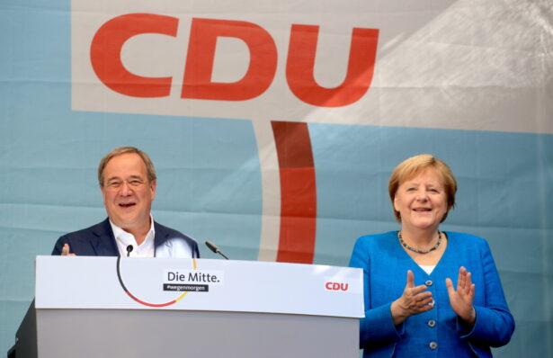 Merkel and Armin Laschet