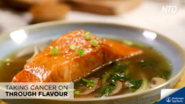 Miso Salmon in Asian Broth