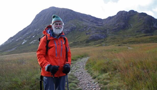 Climber Gardner ascends Buachaille Etive Mor