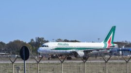 Italian Airline Alitalia Finishes Last Flight