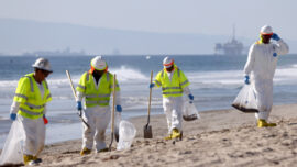 California Oil Spill Cleanup Continues
