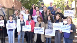 Protest at National School Boards Association