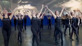 Radio City Rockettes Prep for Christmas Show
