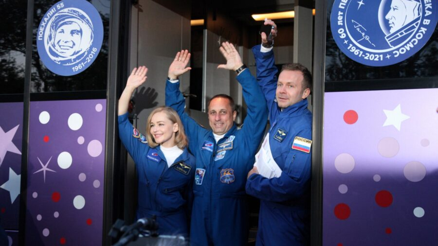 Russian Actor Blasts Off to Attempt a World First: A Movie in Space