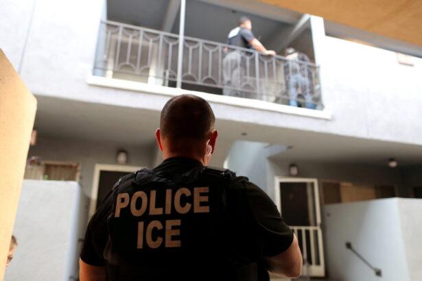 A U.S. Immigration and Customs Enforcement agent