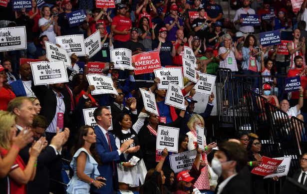 Gov. Kevin Stitt attends a campaign rally
