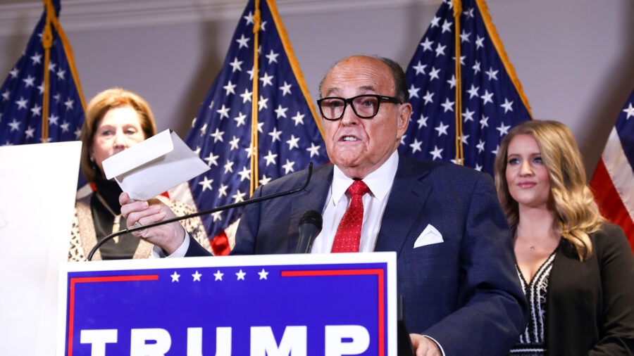 Giuliani Reveals Why Trump Legal Team Issued Statement on Sidney Powell