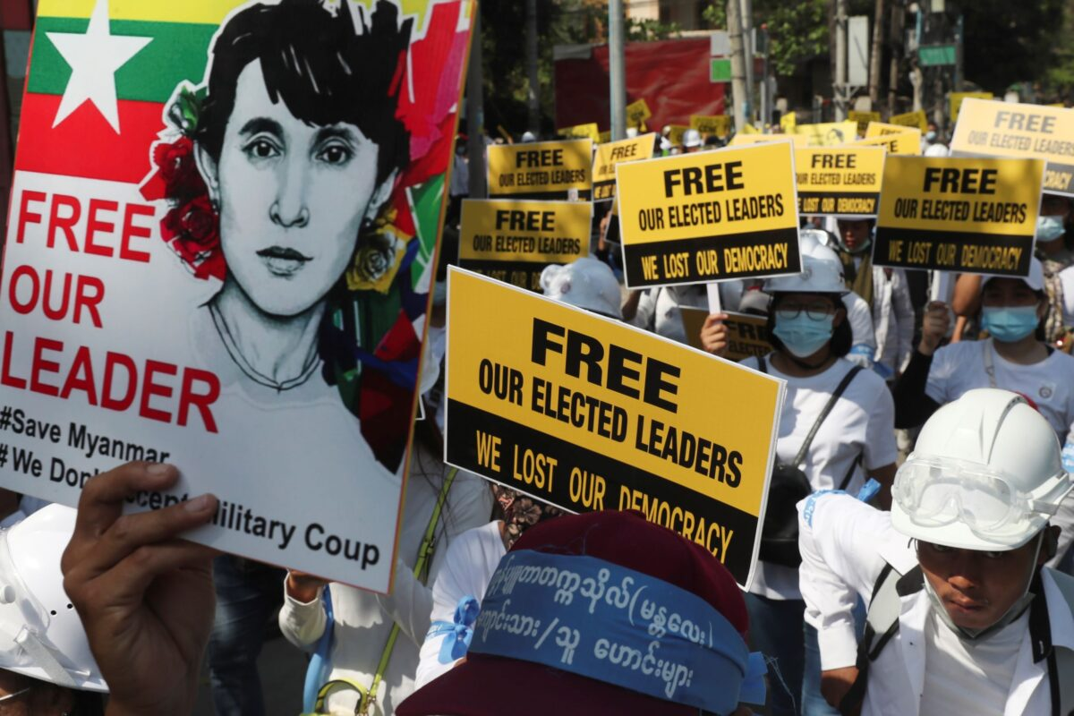 Mandalay Anti-coup protesters