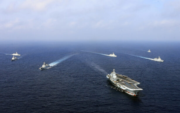 China's sole operational aircraft carrier,