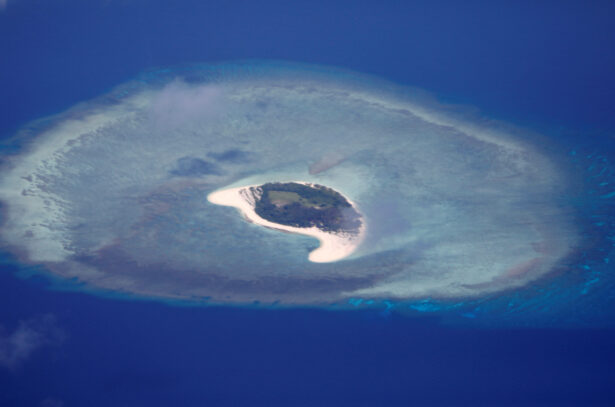 island of Spratlys in the South China Sea