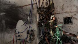 Strike From Gaza Kills 2 as Israel Topples 6-story Building