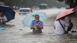 Foreign Reporters Stopped in China Flood City