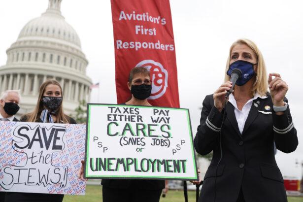 Sara Nelson, flight attendants