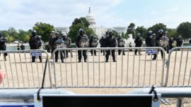 Police and Media Appear to Outnumber 'Justice for J6' Protesters on Capitol Hill